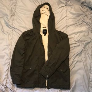 Forever 21 Winter Jacket with Fuzzy Lining